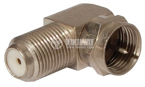 Connector, F Connector, M-F, 90 ° - 3