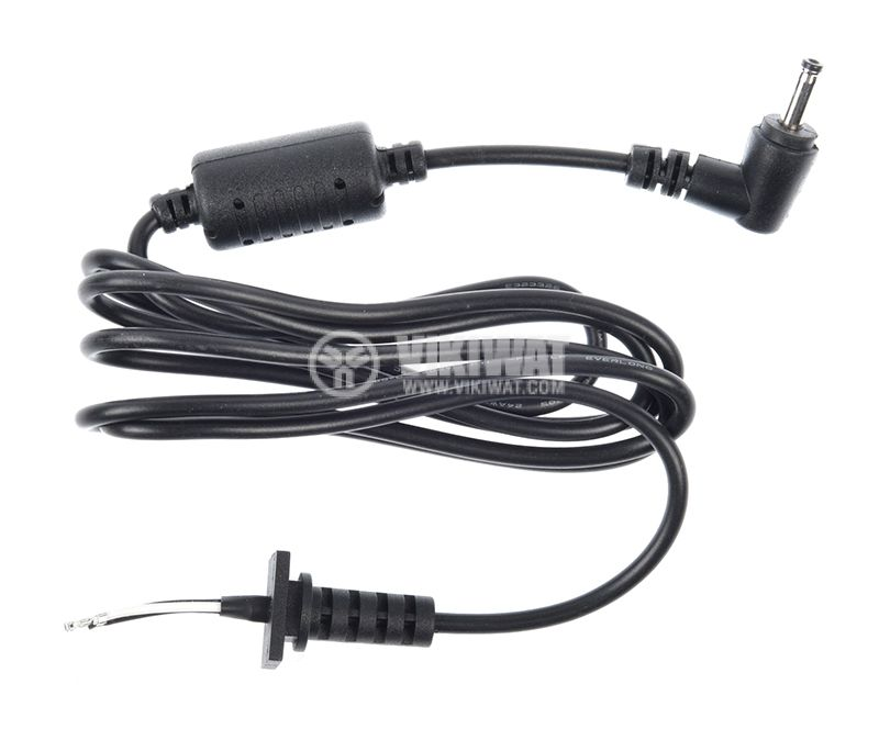 Power cable with laptop adapter tip, 3.5x1mm, 1m - 1