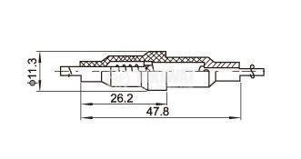 Държач  за предпазител, A-03F1, 230VAC, 3.15A, 5x20mm - 2