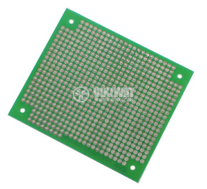 Universal PCB, single sided, 65x75mm, 2.54mm
