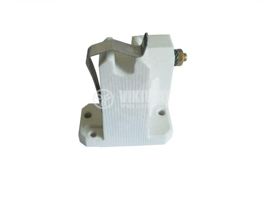 Фасунга K12.5x7s, керамична, бяла, за мощни метал-халогенни лампи - 1