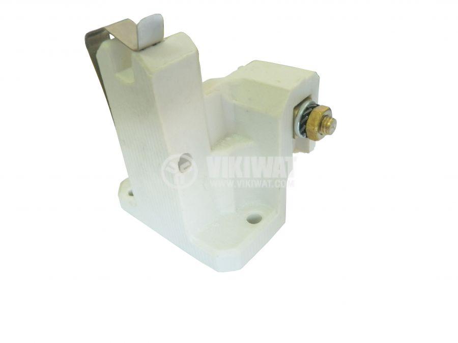 Фасунга K12.5x7s, керамична, бяла, за мощни метал-халогенни лампи - 2