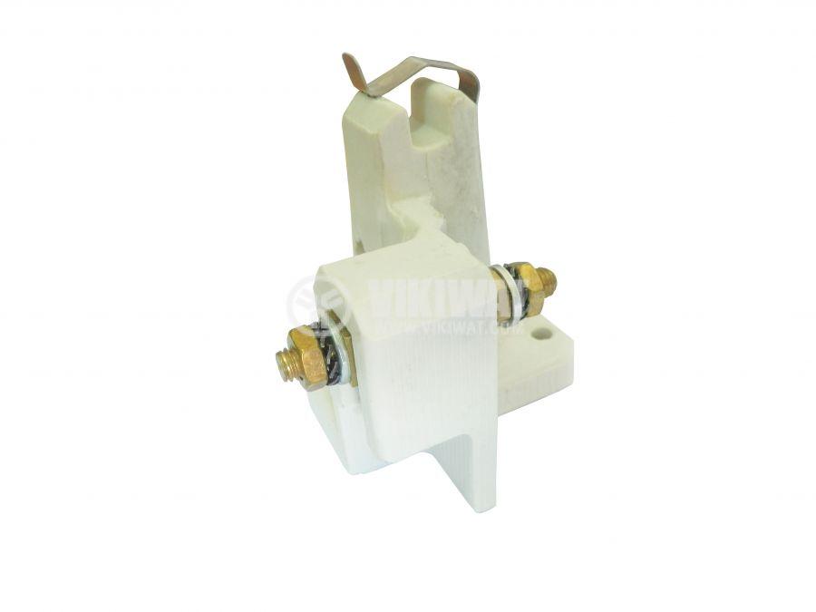 Фасунга K12.5x7s, керамична, бяла, за мощни метал-халогенни лампи - 3