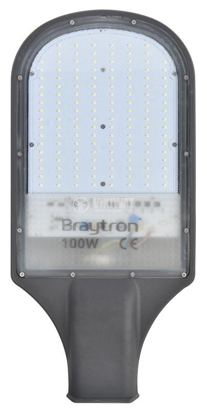 LED лампа за улично осветление STL1, 100W, 220VAC, 9000lm, 6000K, IP65, BT42-09132 - 1