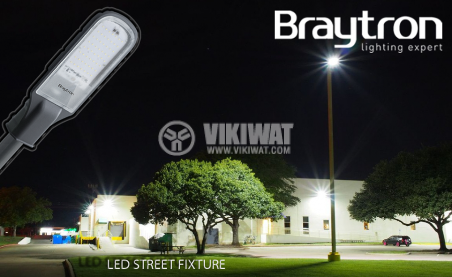 LED street lighting lamp STL1, 50W, 220VAC, 4500lm, 6000K, cool white, IP65, waterproof, BT42-05032 - 3