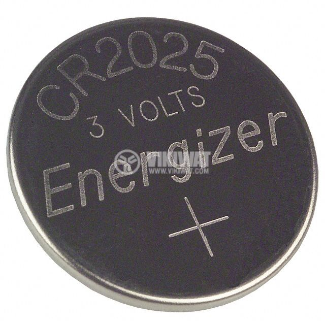 Button Cell Battery CR2025, 3VDC, 165mAh, lithium - 1