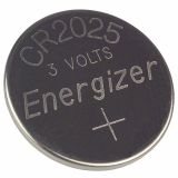 Button Cell Battery CR2025, 3VDC, 165mAh, lithium