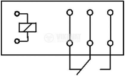 Реле 12VDC, 250VAC/16A, 29x12.5x20.3mm  - 2