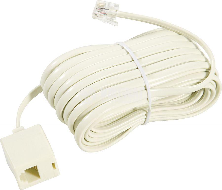 Телефонен кабел, RJ11 6P4C M-RJ11 6P4C F, 4.5m