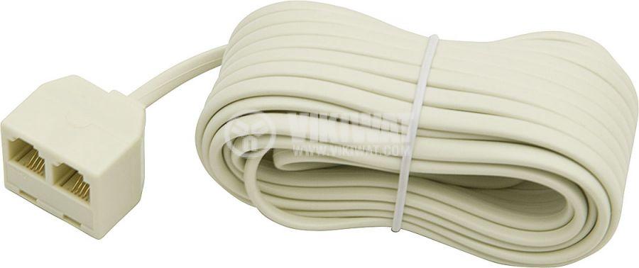 Телефонен кабел, RJ11 6P4C M-2xRJ11 6P4C F, 2m