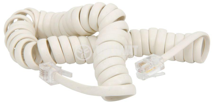 Телефонен кабел, RJ10 4P4C M-RJ10 4P4C M, 1m