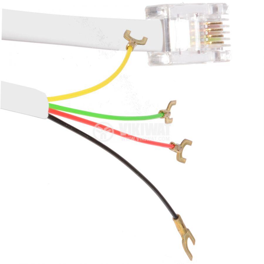 Телефонен кабел, RJ11 6P4C M-кабелни накрайници, 4.5m