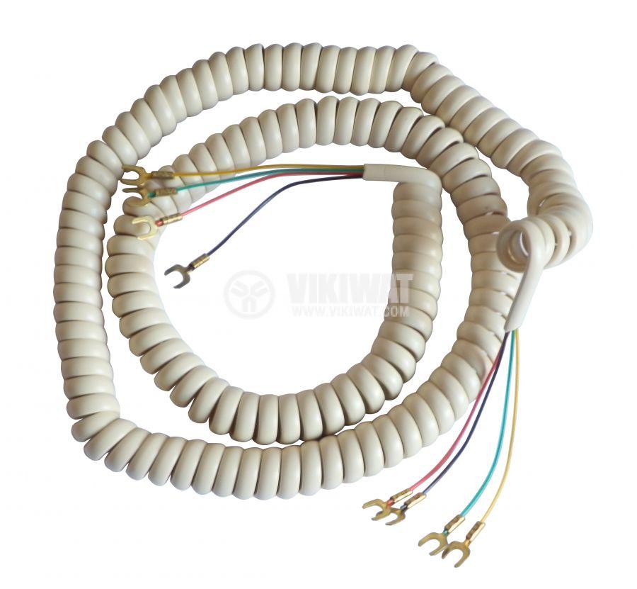Телефонен кабел, кабелни накрайници, 4.5m