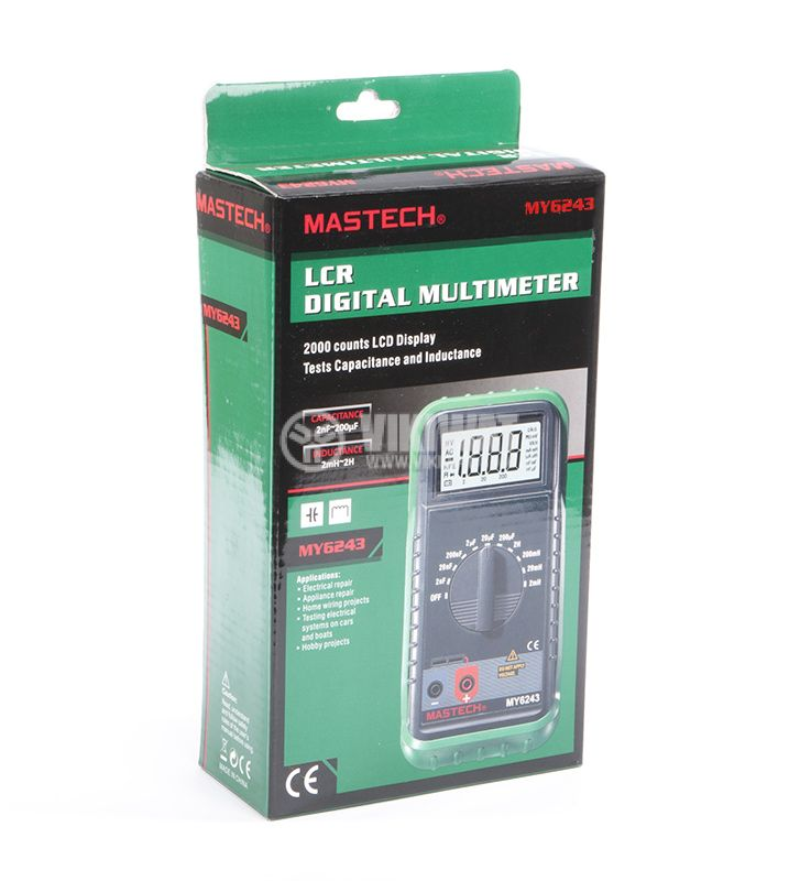 LC meter MY6243, capacitance 2nF to 200uF, inductance 2mH to 2H - 5