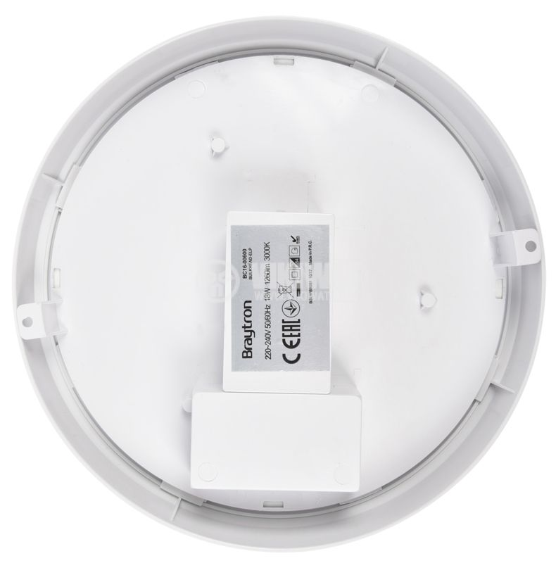 LED Ceiling light BULKHEAD, 18W, 220VAC, 1260lm, 3000K, IP54, BC16-00600 - 4