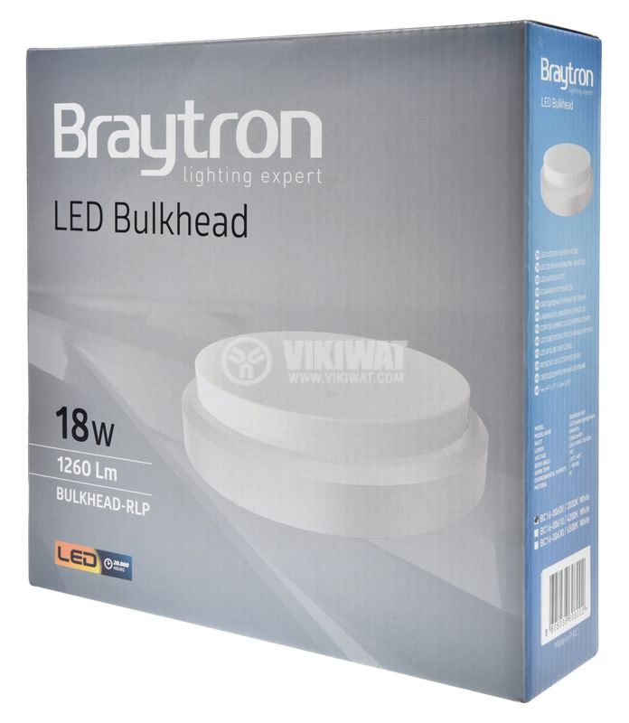 LED Ceiling light BULKHEAD, 18W, 220VAC, 1260lm, 3000K, IP54, BC16-00600 - 5