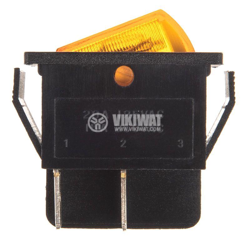 Клавишен превключвател, MK 721 A/N, 15A/250VAC, DPST - 2