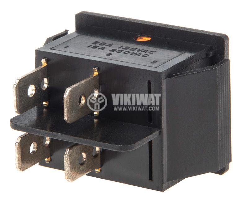 Клавишен превключвател, MK 721 A/N, 15A/250VAC, DPST - 3