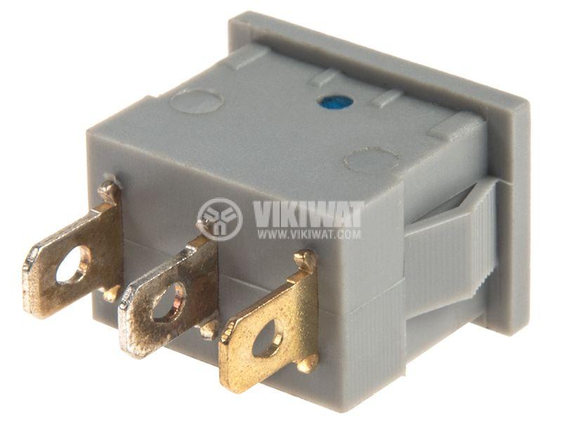 Rocker Switch, 2-position, OFF-ON, 6.5A/250VAC, hole size 19x13mm - 3