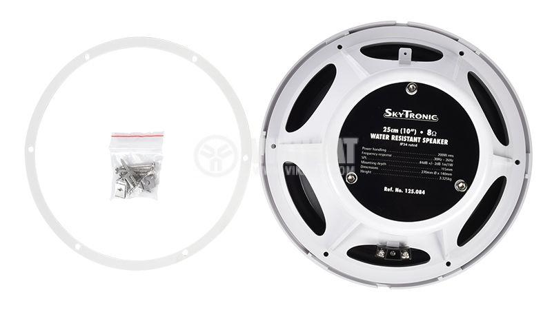 """Speaker SkyTronic, waterproof, 10"""", 8Ohm, 200W - 4"""