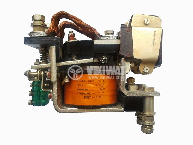 Contactor, single-phase, coil 40VDC, 2PST - 2NO, 100A, КВПД-100Б, NO+NC - 1