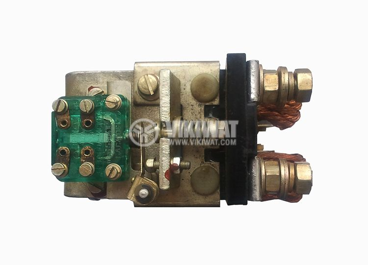 Contactor, single-phase, coil 40VDC, 2PST - 2NO, 100A, КВПД-100Б, NO+NC - 2