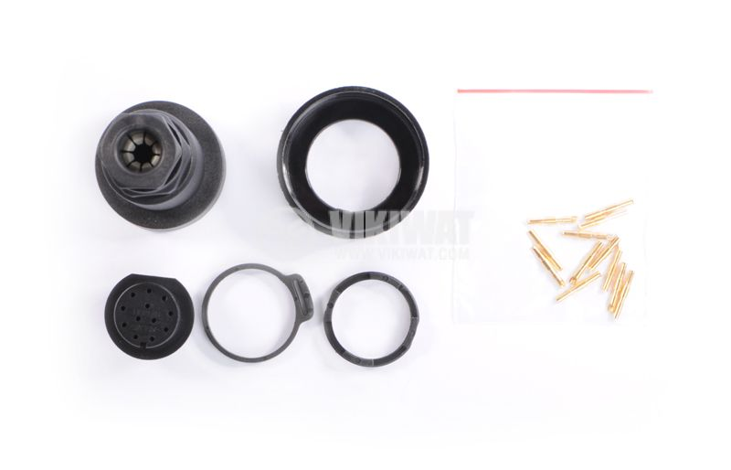 12-piece coupling kit for male and female mounting, IP68 - 5