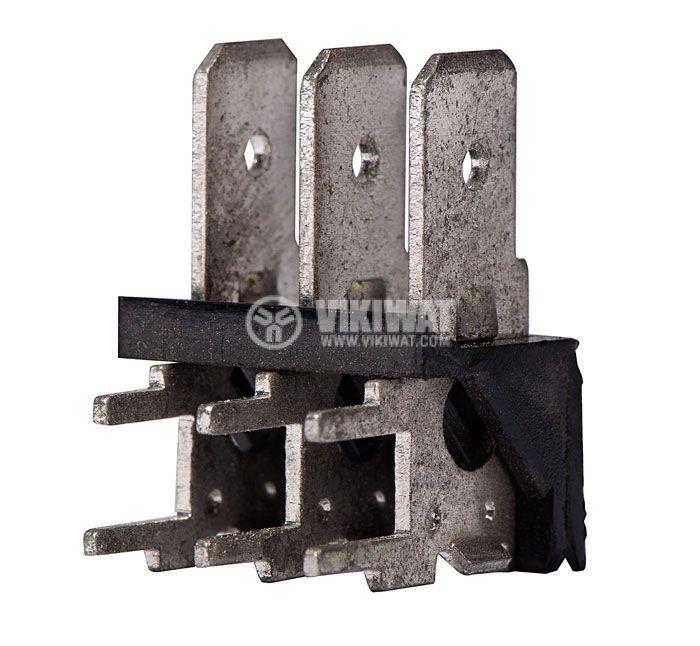 PCB терминален блок без изолационни прегради, XY256R, 3 пина, 25A/250V, Г-образен, за печатен монтаж - 1