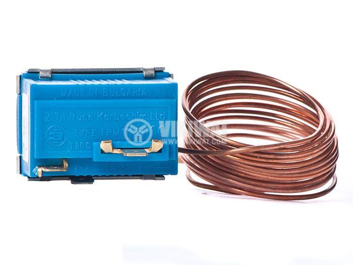 Терморегулатор, капилярен, ТРM111.52, +50 °C +190 °C, NC, 16 A / 250 VAC - 2