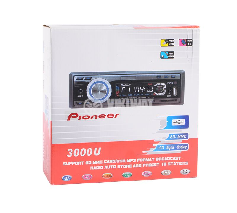 Radio CTC-3000U Pioneer, mp3, USB slot, MMC and SD slot, AUX-in - 5