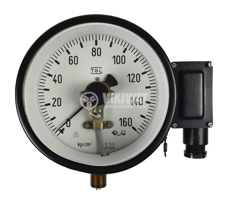 Gauge, analogue Ф160 x 110mm, 0-160kgf/cm2  - 1