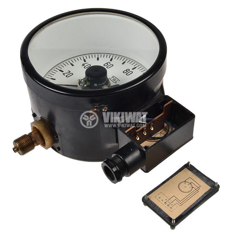 Gauge, analogue Ф160 x 110mm, 0-160kgf/cm2  - 2