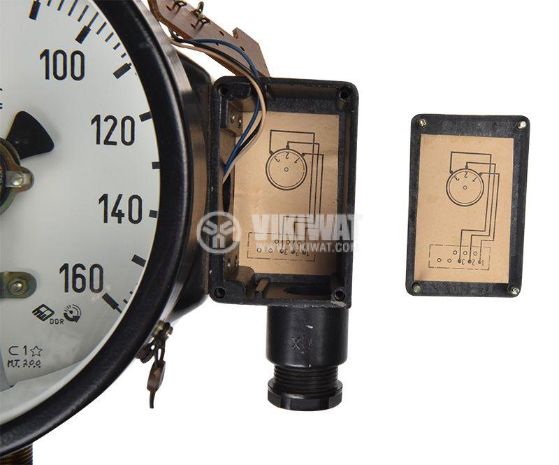 Gauge, analogue Ф160 x 110mm, 0-160kgf/cm2  - 3