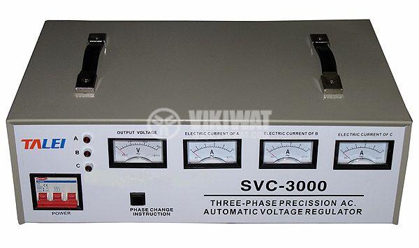 Three-phase voltage stabilizer SVC3 - 3, 380VAC, 3kW
