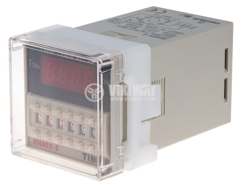 Repeat Cycle Timing Relay 24 VDC, NO + NC, 250 VAC, 5 A, 0.01 s to 99 h99 min