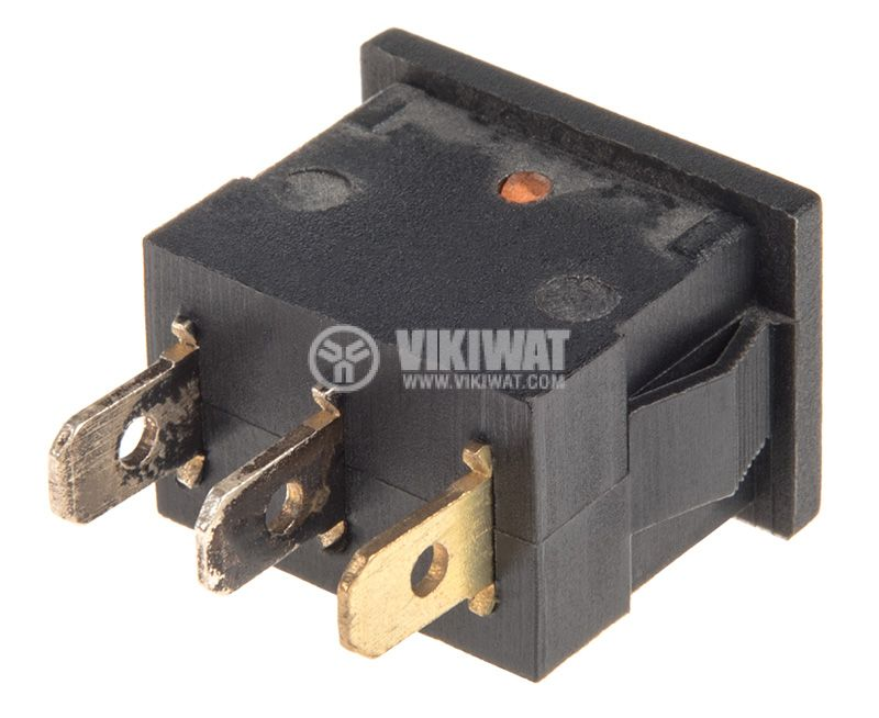 Rocker Switch, 2-position, OFF-ON, 6.5A/250VAC, hole size 19x13mm - 3