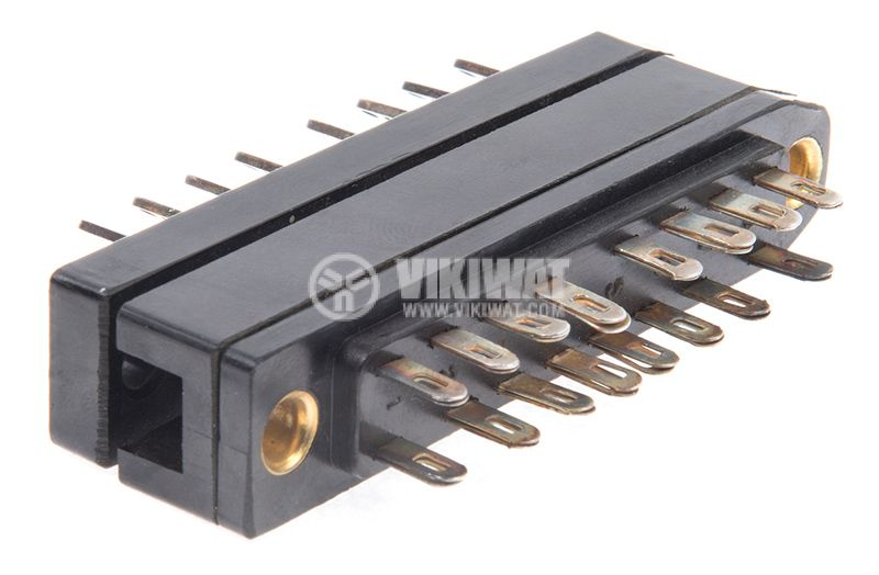 Military connector, 16 pins, male-male, aluminum - 3