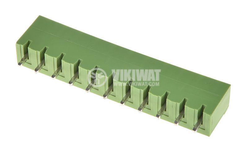 PCB терминален блок, 11 пина, 12А, за печатен монтаж - 2