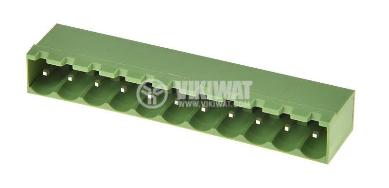 PCB терминален блок, 11 пина, 12А, за печатен монтаж - 1