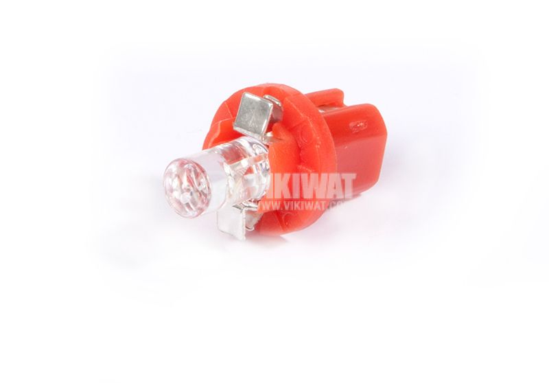 Car LED bulb, 12VDC, B8.5d, diffused red - 1