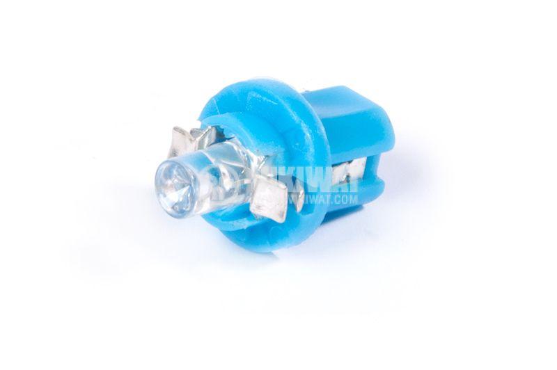 Автомобилна LED (светодиодна) лампа, 12VDC,  B8.5d, дифузна, синя - 1