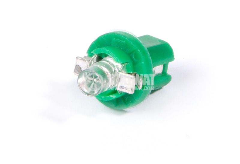 Car LED lamp, 12VDC, B8.5d, diffused  green - 3
