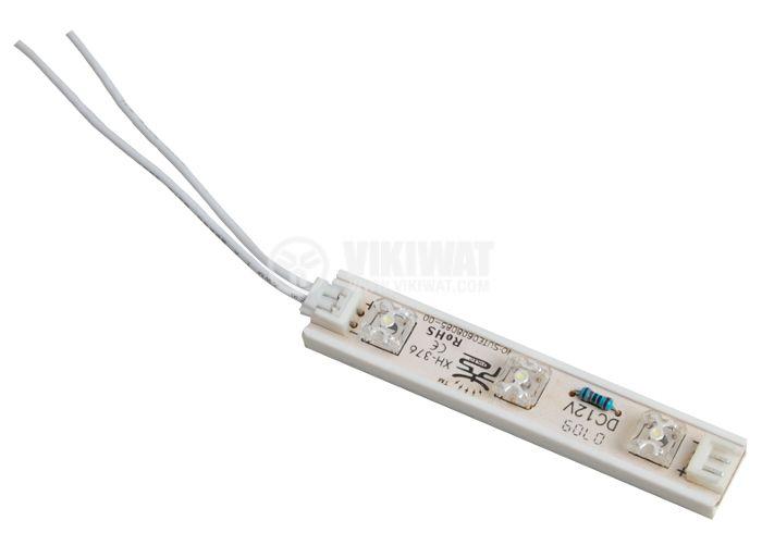 LED модул 3led, 0.18W, 12VDC, невлагозащитен, бял
