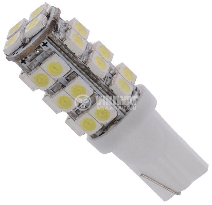 Автомобилна LED лампа  W2.1x9.5d, 12VDC, 1.7W, 26 LED, студено бяла