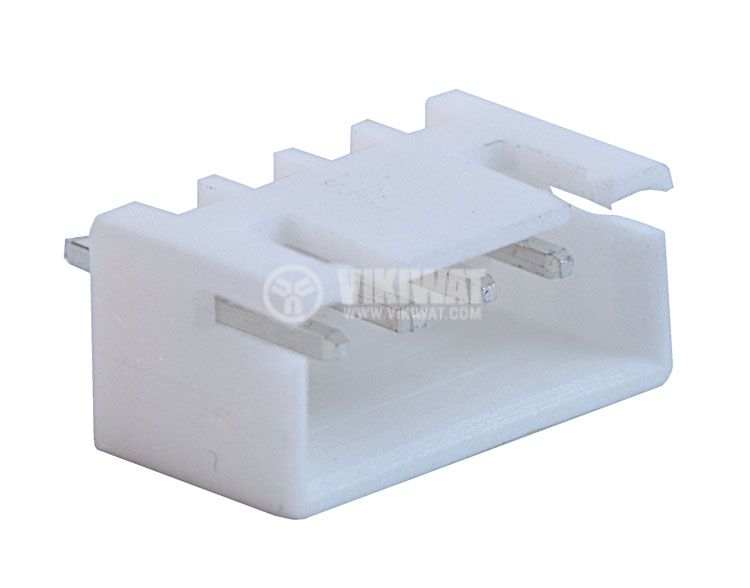 Конектор за печатен монтаж мъжки, VF25002-4A, 4 пина - 1