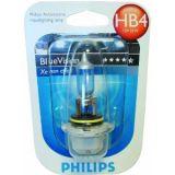 Автомобилна халогенна лампа, 12VDC, HB4, Blue Vision, 51W, P22d, 90°, синя - 2