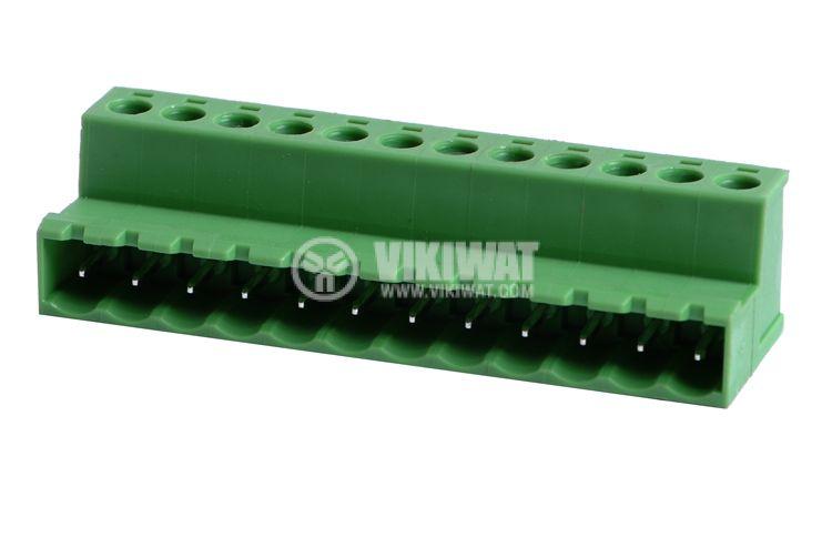 Мъжки конектор, терминален блок 5 mm, VF2EDGRK - 5, 12pin, 15A - 1