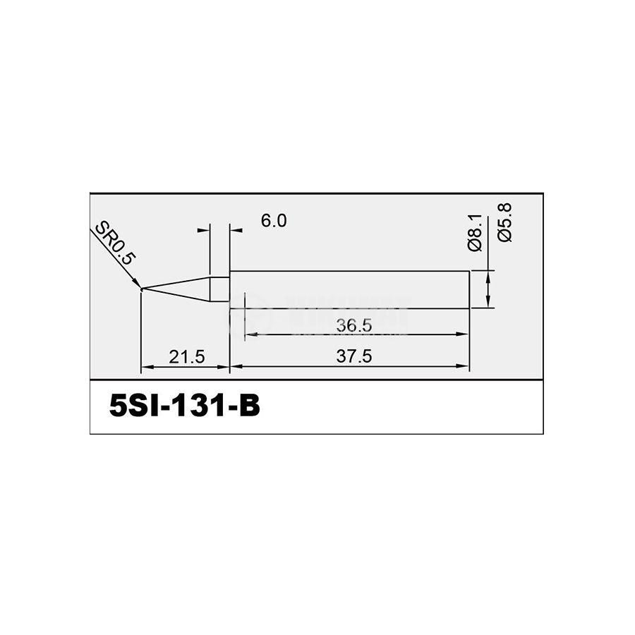 Човка за поялник 5SI-131-B, конус, куха - 2