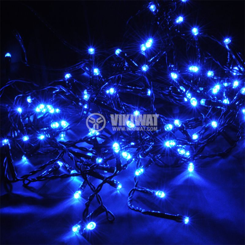 Christmas decoration curtain type, 0.9x0.5m, 3.6W, blue, IP44, 100 LEDs - 1