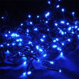 Christmas decoration curtain type, 0.9x0.5m, 3.6W, blue, IP44, 100 LEDs